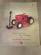 WHEEL HORSE SALES BROCHURE. WHAT KIND OF HORSE IS A WHEEL HORSE? !