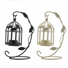 Vintage Candle Holder Bird Cages Patterned Hanging Home Events Display Decor New