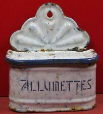 Ancienne boîte à allumettes ou sel  en Tôle émaillée