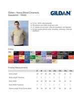 ss Gildan 18000 Heavy Blend Adult Crewneck Sweatshirt Pullover Fleece S-5XL B3G1