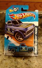 2012 HOT WHEELS® CITY WORKS® ELECTRIC BLUE CUSTOM '69 CHEVY PICKUP #140/247