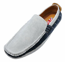 MENS GREY SLIP-ON SMART COMFY DRIVING BOAT DECK SHOES CASUAL PUMPS SIZES 6-11