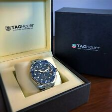 TAG HEUER WATCH Aquaracer Blue Auto CHRONO Diver Box Papers  CAY211B.BA0927