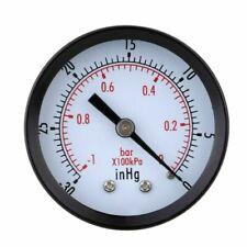 Pressure Gauge - 0 -30inhg 0 -1 Bar Mini Dial Gage Vacuum Scale Black Q3f7