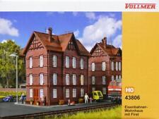 Vollmer 43806 ( 3806 ) H0 - Eisenbahner- Wohnhaus mit First NEU & OvP