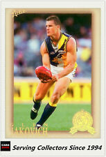 2012 Select AFL Eternity Hall Of Fame S4 Card HOF195 Glen Jakvoich (West Coast)