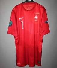 FRANCE TEAM EURO 2012 GOALKEEPER #1 LLORIS MATCH WORN JERSEY SHIRT MAILLOT NIKE