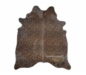 Cow Leather Leopard Candy Luxury Premium Quality Rug Living Room Comfort Design