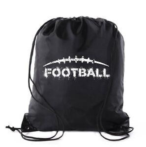 Football Party Bags   Football Drawstring Cinch Backpacks
