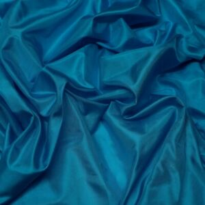 "Turquoise Blue Tissue Taffeta, 100% Silk Fabric, By The Yard, 44"" Wide (TS-7315)"