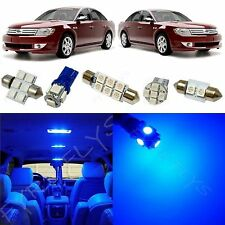 6x Blue LED lights interior package kit for 2008-2009 Ford Taurus FT1B