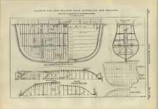 1883 Caisson For Graving Dock Lyttelton Bell And Miller Section