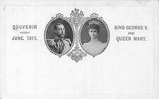 POSTCARD    ROYALTY   GEORGE  V  &  Queen  MARY  Souvenir  1911