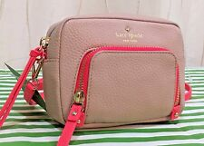 NWT Kate Spade Cobble Hill Mini Rosie Leather Crossbody Bag Grey Powder/Geranium