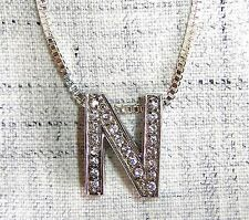 """For all your """"N"""" needs! Vintage Sterling Floating Pave """"N� Necklace"""