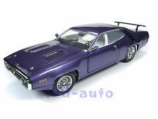 Autoworld 1971 Plymouth Road Runner Hard Top Violet Mcacn 1/18 Diecast Amm1182