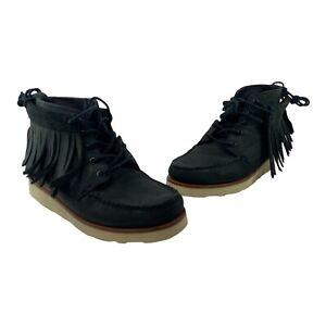 Ronnie Fieg X Sebago Men's Size 7.5M Black Vibram Moccasin Shoes Boots 10603