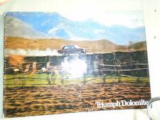 Triumph Dolomite range brochure Apr 1972