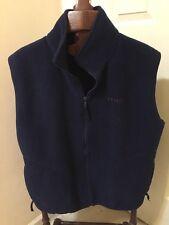 IZOD Blue MADE IN USA Vintage Fleece Vest_Mens L