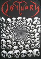 OBITUARY FLAGGE FAHNE SKULLS CAUSE OF DEATH POSTERFLAGGE POSTER FLAG STOFF
