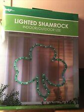 New Lighted St Patricks Day Shamrock Window Door Decor Indoor Outdoor