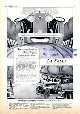 La Salle Automobile Reklame von 1928 Geschwindigkeit LaSalle Auto Fahrzeug