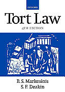 Tort Law by B. S. Markesinis Paperback 1999 Used Very Good