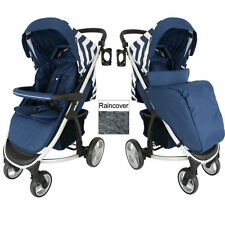 My Babiie Mb200 Blue Chevron Pushchair