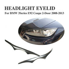 Carbon Fible HeadLight Eyelid Eye Lid Pair Fit for BMW E92 Coupe M3 335i 08-11