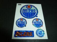 EDMONTON OILERS TEAM HOCKEY NHL LOGO CARTE CARD STICKERS 1990s MACHINE VENDING