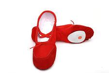 Children Adult Canvas Split Sole Ballet Dance Shoes Pointe Slippers Size 24-45