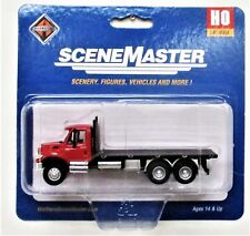 HO Scale Walthers SceneMaster 949-11652 International 7600 3-Axle Flatbed Truck