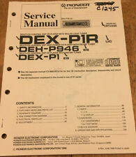 PIONEER DEX-P1R DEH-P946 P1 DSP CD PLAYER ORIGINAL SERVICE REPAIR MANUAL