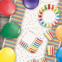 Rainbow Colourful Party Supplies Tableware, Decorations & Balloons