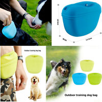 Outdoor Dog Treat Bags Pet Agility Training Waist Pocket Snack Pouch Silicone