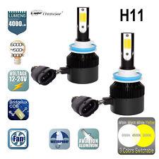 6000K 3000K 4500K 3-Color Switchable LED Headlight H11 Low High Beam Fog 2-Bulbs