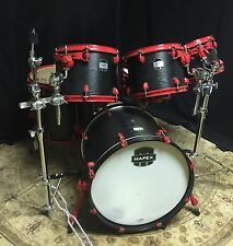 Mapex Mydentity 6-Piece Custom Kit Shell Pack || Black Lacquer || Red Hardware