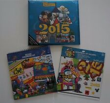 LOT OF 3 Disney Parks Walt Disney World 2015 DELUXE SCRAPBOOK KIT & SCRAPBOOK