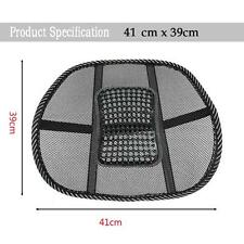Massage Cushion Cool Vent Mesh Back Lumber Support Brace Chair Car Seat Pad