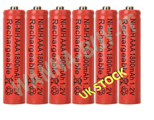 6 x AAA 1800mAh NiMH Rechargeable Cell Batteries for BT Panasonic Philips phones