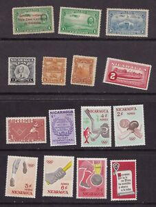 Collection lot of 41 MH MNH Stamps from Nicaragua Olympics Flowers Etc in 6 pics