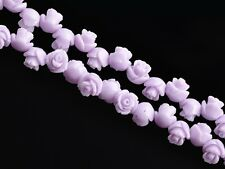 20pcs 8~35mm Resin Carved Rose Flower Jewelry DIY Charms Loose Spacer Beads