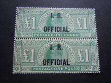 Gran Bretagna 1887  PAUD Rarissimo FISCO UFFICIALE IR lotto di 2  M.N.H** RRR