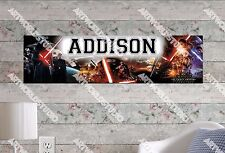 Personalized/Customized Star War The Force Awakens Name Poster Wall Art Banner