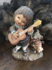 Excellent Condition 3� Anri Ferrándiz Wood Carved Figurine: Romeo (Boy w/Guitar)