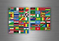 60x Aufkleber flagge fahne verschiedene afrika staaten del erde  r2 scrapbooking