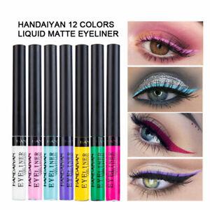 12 Colors Matte Liquid Eyeliner Waterproof Eye Liner Pen Long Lasting Eye Makeup