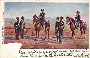 POSTCARD  MILITARY   ITALY   Mounted  and  Foot   Troops