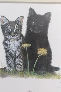 Troubles Print by Charleyn Moore Domestic Cats Lmtd Edition Signed & Numbered
