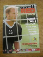 04/08/2001 Bristol City v Southampton [Friendly] . Item in very good condition,
